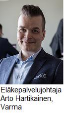 Eläkepalvelujohtaja Arto Hartikainen, Varma